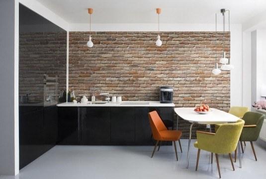 Цегляна стіна на кухні, як це виглядатиме в інтер'єрі