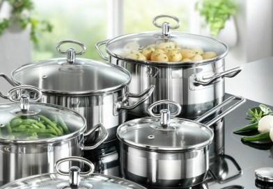 Кухонний посуд з нержавіючої сталі для сучасної кухні