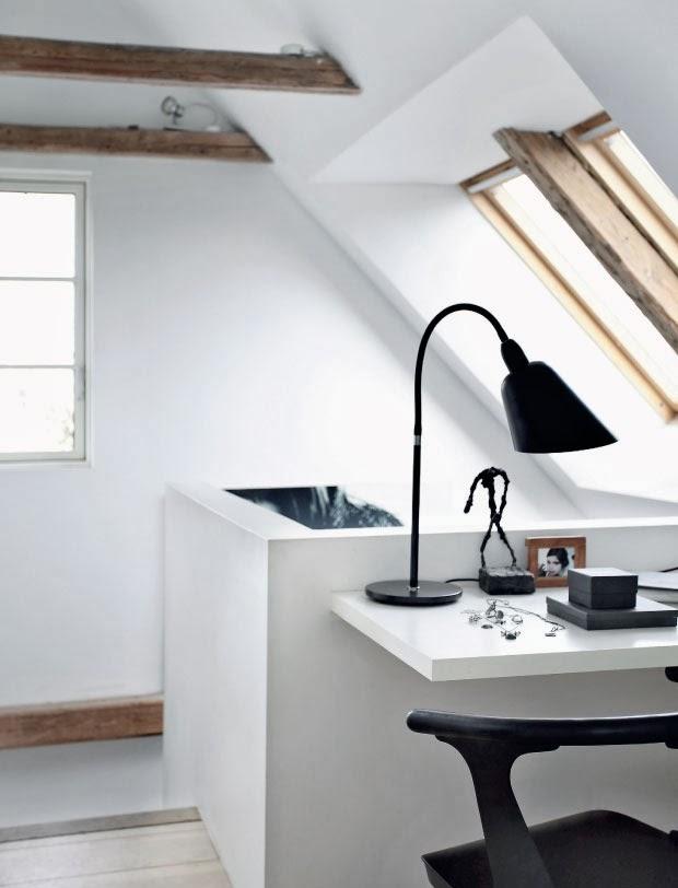 Rincón de despacho. Se puede ubicar una zona de despacho en áreas de la vivienda que de otro modo quedarían sin uso.