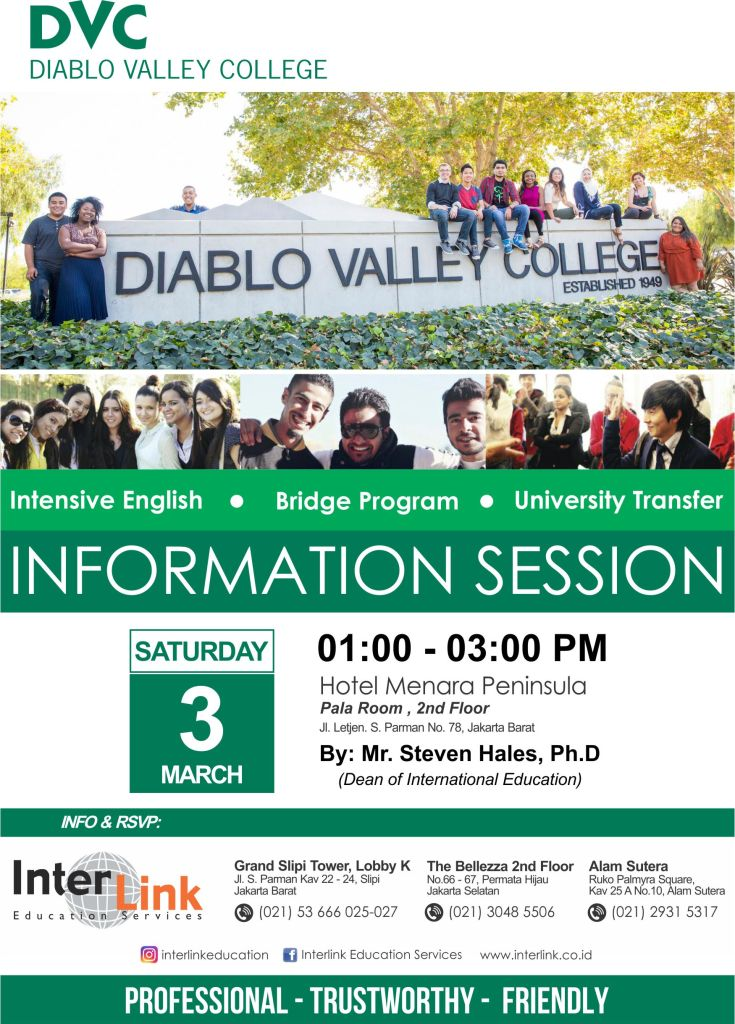 Diablo Valley College Flyer March 2018 Interlink