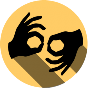 American Sign Language Services Icon.
