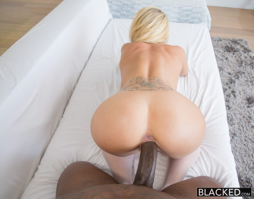 blonde wife black cocks creampie