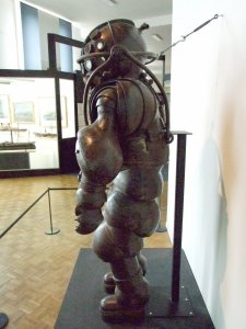 Diving suit at the Musee de la Marine, Paris