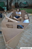 Moffett family build sailing Ella skiff in Mauritius