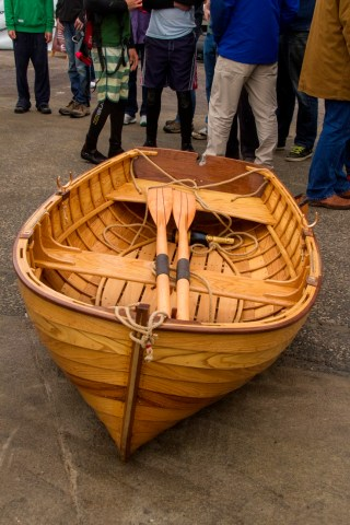Replica of 1916 Morgan Giles dinghy photo by Derek Thompson