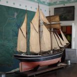 Model of Buccaneer, built at Kingsbridge. Model made in 1880