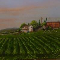 Sunset on the Farm by Michigan fine artist Ellen Leigh