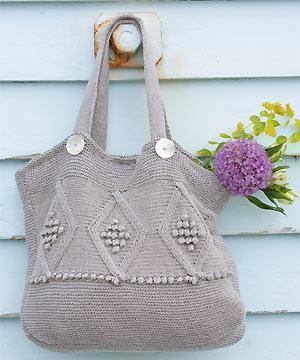Diamond Patterned Bag Free Knitting Pattern | Bag, Purse, and Tote Free Knitting Patterns at http://intheloopknitting.com/bag-purse-and-tote-free-knitting-patterns/