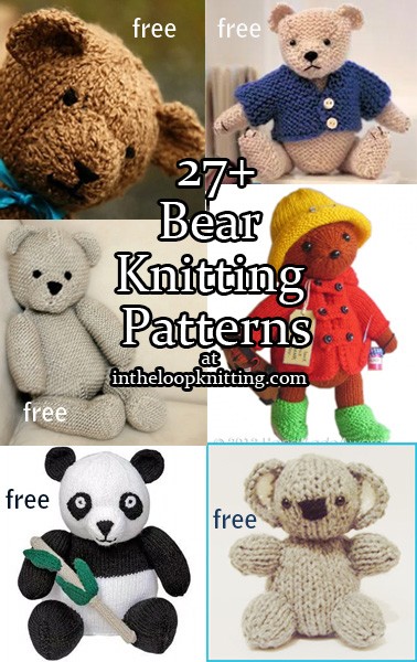 Knitting Pattern For Koala Bear Mittens : Teddy Bear Knitting Patterns In the Loop Knitting