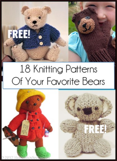 Free Teddy Bear Knitting Patterns In the Loop Knitting