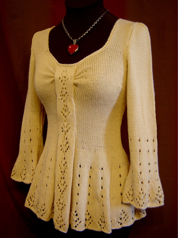 Evangeline Tunic Knitting Pattern-PDF