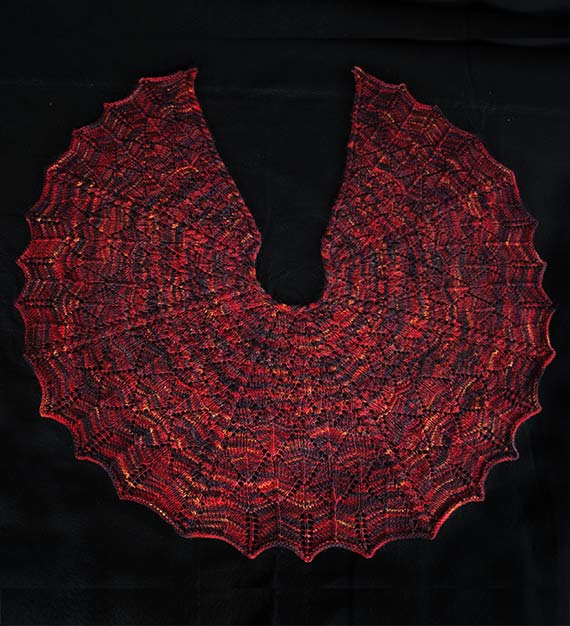Dragon Wings Shawl Knitting Pattern - PDF