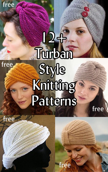 Knitting Patterns For Turban Hats : Turban Hat Knitting Patterns In the Loop Knitting