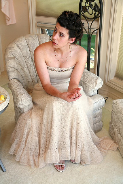 Wedding Gown Free Knitting Pattern | Free Wedding and Bridal Knitting Patterns at http://intheloopknitting.com/wedding-knitting-patterns/ ‎