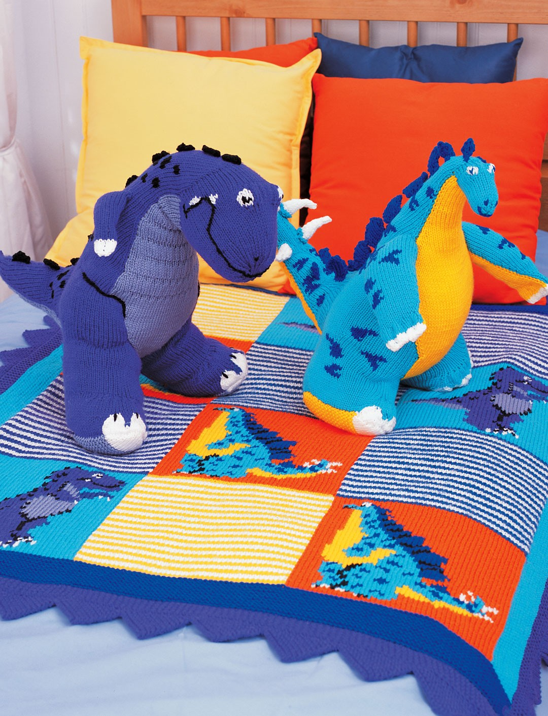Free Dinosaur Knitting Pattern : Fun Afghan Knitting Patterns In the Loop Knitting