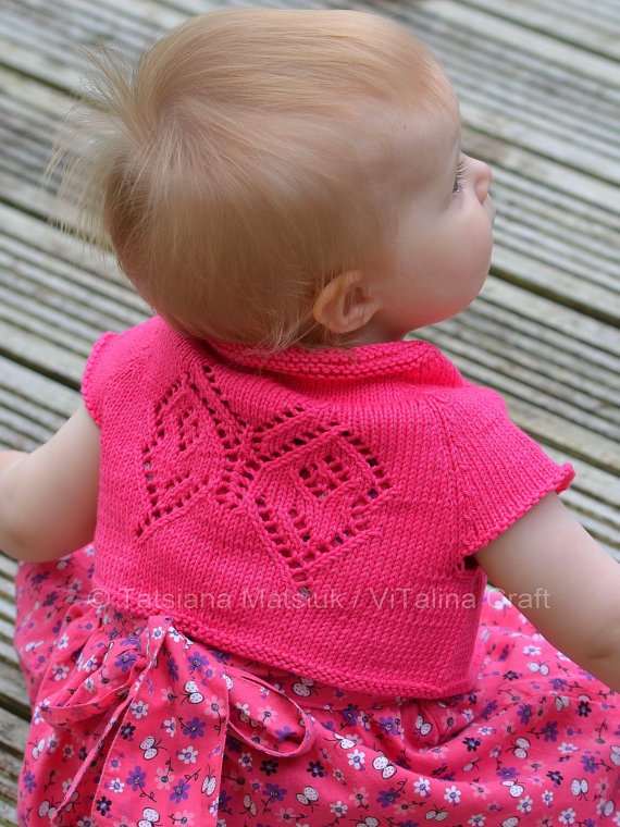 Knitting Pattern Baby Bolero Cardigan : Free Baby and Toddler Sweater Knitting Patterns In the Loop Knitting