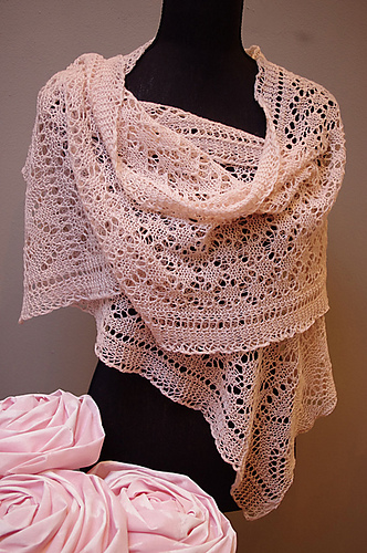 Free Crochet Patterns Shawls Stoles : Lace Shawl and Wrap Knitting Patterns In the Loop Knitting