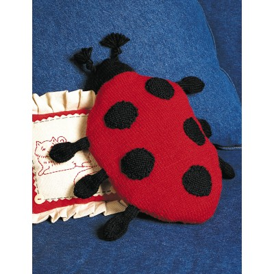 Ladybug Pillow Free knitting pattern and more free pillow knitting patterns