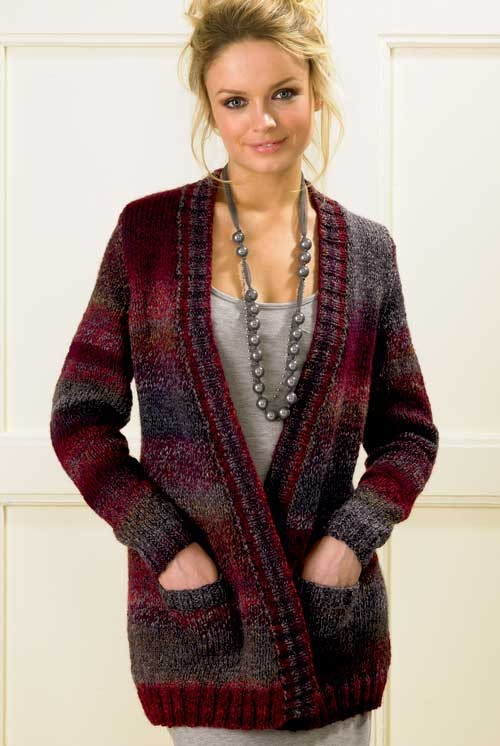 Bulky Knit Sweater Patterns Free : Cardigan Sweater Knitting Patterns In the Loop Knitting