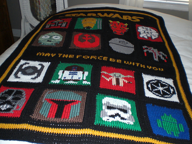 Free Star Wars Knitting Charts and more Star Wars inspired knitting patterns