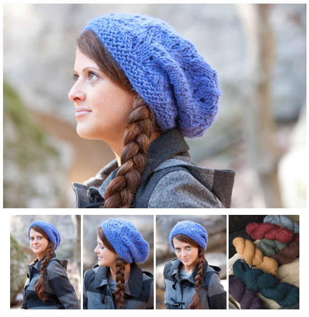Knit Slouchy Beret Pattern : Slouchy Hat Knitting Patterns In the Loop Knitting