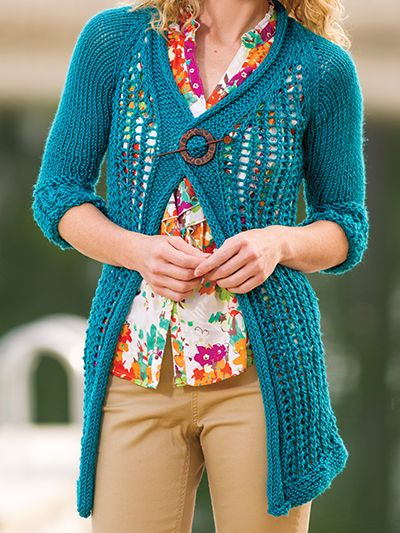Free Lace Knitting Patterns For Cardigans : Short Sleeve Cardigan Knitting Patterns In the Loop Knitting