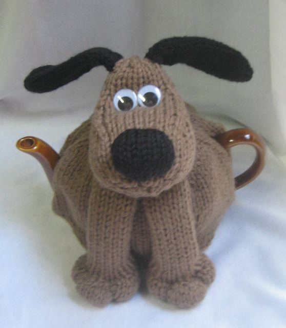 Knitting pattern for Dog Tea Cosy Teapot Cozy