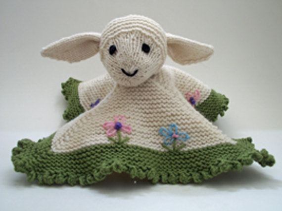 Knitting Pattern For Security Blanket : Lovey Security Blanket Knitting Patterns In the Loop ...