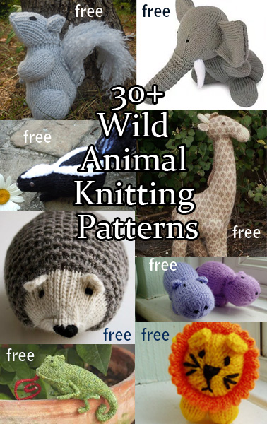 Knitting Patterns For Forest Animals : Wild Animal Knitting Patterns In the Loop Knitting