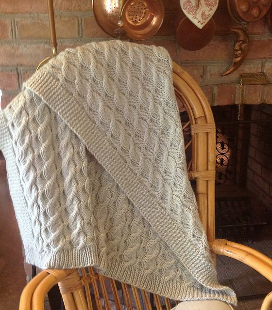 Free Knitting Pattern For Baby Blanket With Cables : Reversible Cable Knitting Patterns In the Loop Knitting
