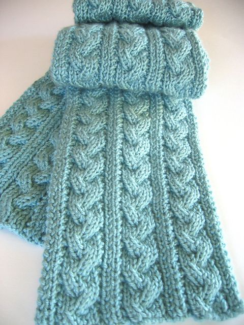 Three Color Scarf Knitting Pattern : Reversible Cable Knitting Patterns In the Loop Knitting