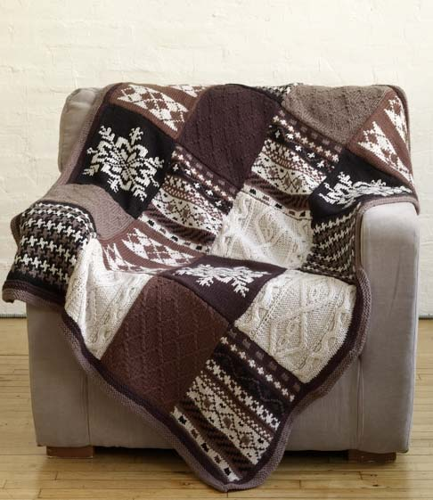 Free Knitting Pattern Afghan Sampler : Sampler Knitting Patterns for Afghans, Accessories, and More In the Loop Kn...