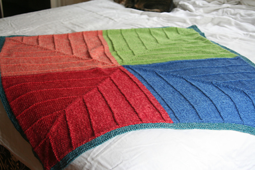 Mitred and Modular Throws and Accessories Knitting Patterns In the Loop Kni...