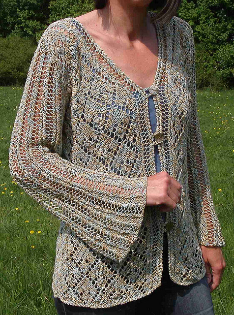 Free Lace Knitting Patterns For Cardigans : Diamond Knitting Patterns In the Loop Knitting