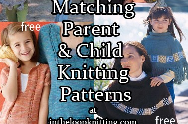 Knitting Patterns for Matching Parent and Child Sets
