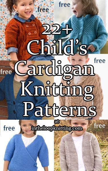 Cardigans for Children Knitting Patterns