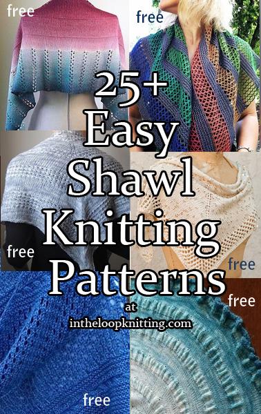 Easy Shawl Knitting Patterns