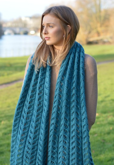 Knitting pattern for Kinvara Shawl