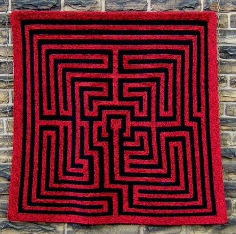 knitting pattern for Amazement maze afghan