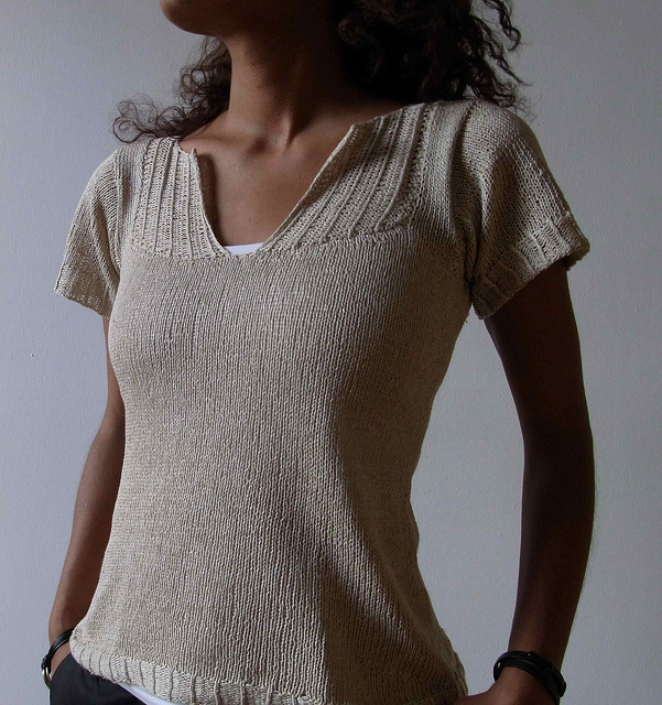 Knitting Patterns For Tops Free : Tee Top Knitting Patterns In the Loop Knitting