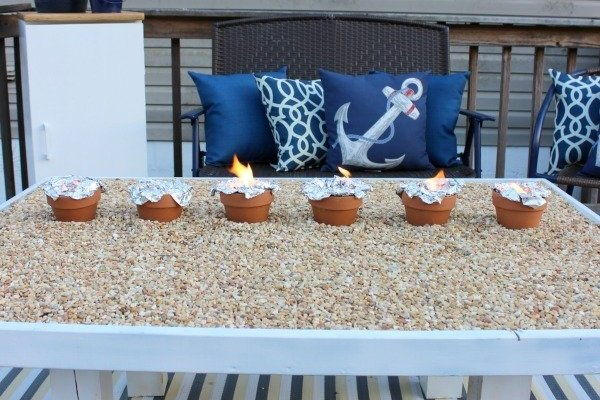 DIY Smores Roasting Table