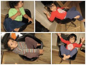 Eames children's rocking chair