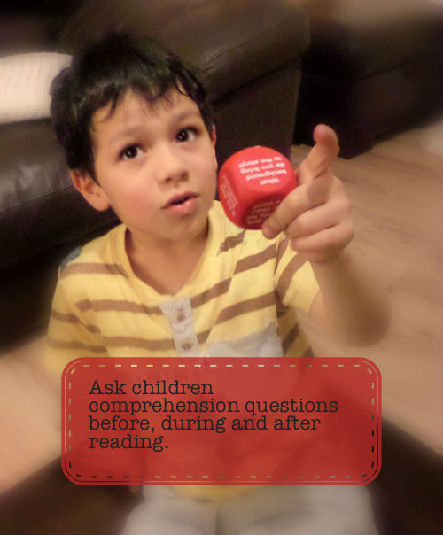 Using reading comprehension cubes