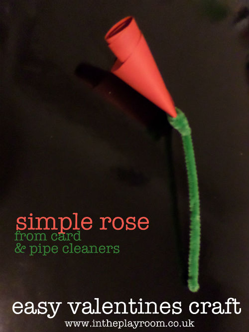easy valentines crafts making a rose