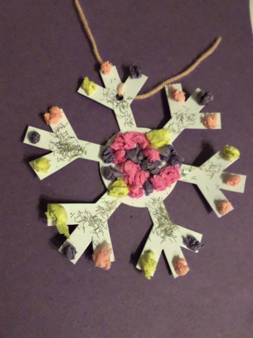 winter crafts snowflake