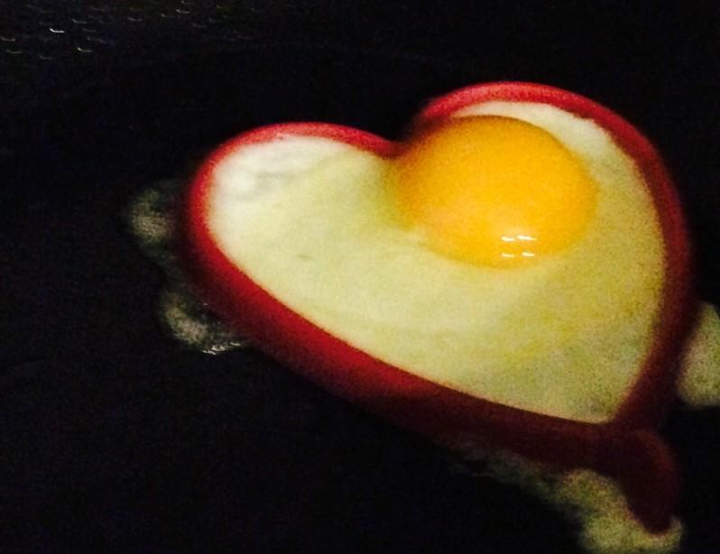 valentines treats heart shaped egg