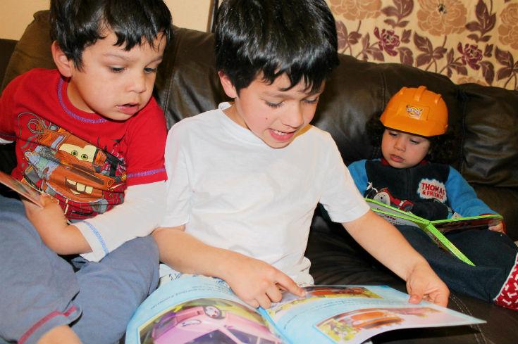 reading olly the little white van books