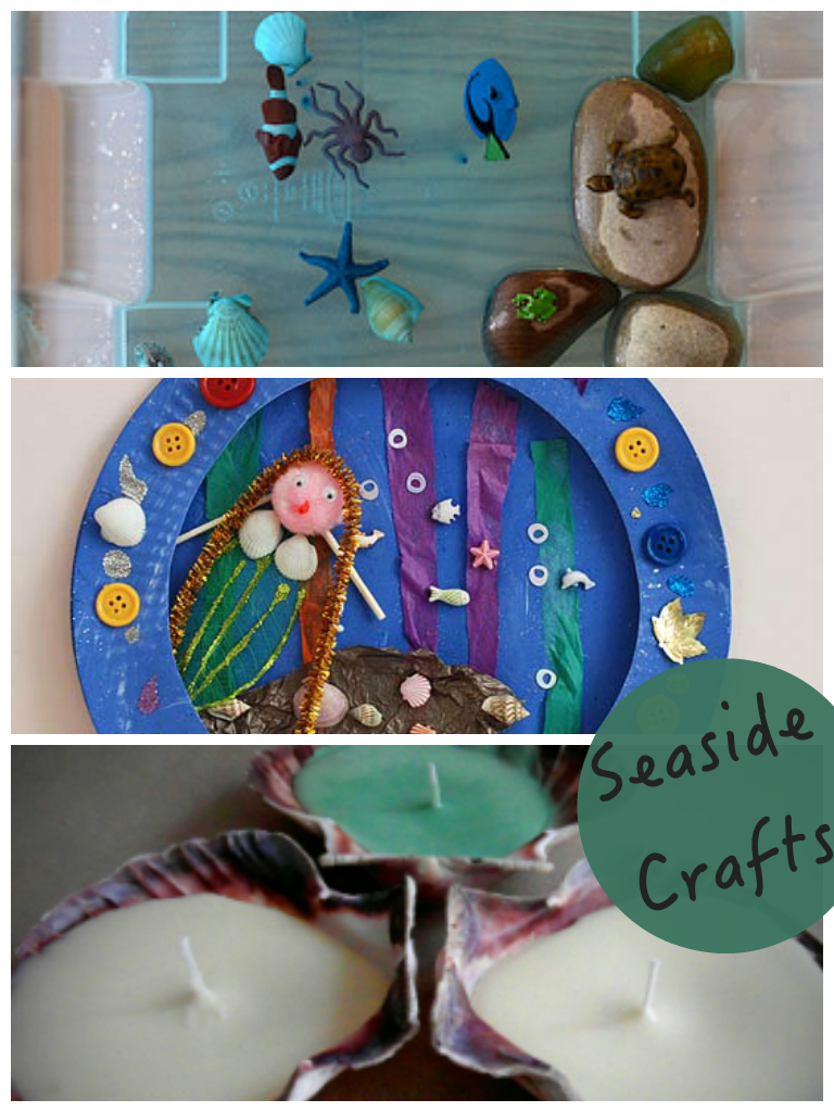 Three great seaside crafts featured on the Tuesday Tutorials Pintorials Party. I love these ideas
