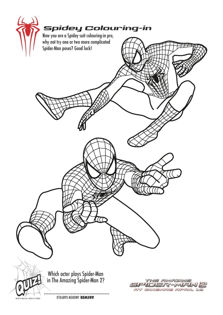 spider-man colouring pages free printables