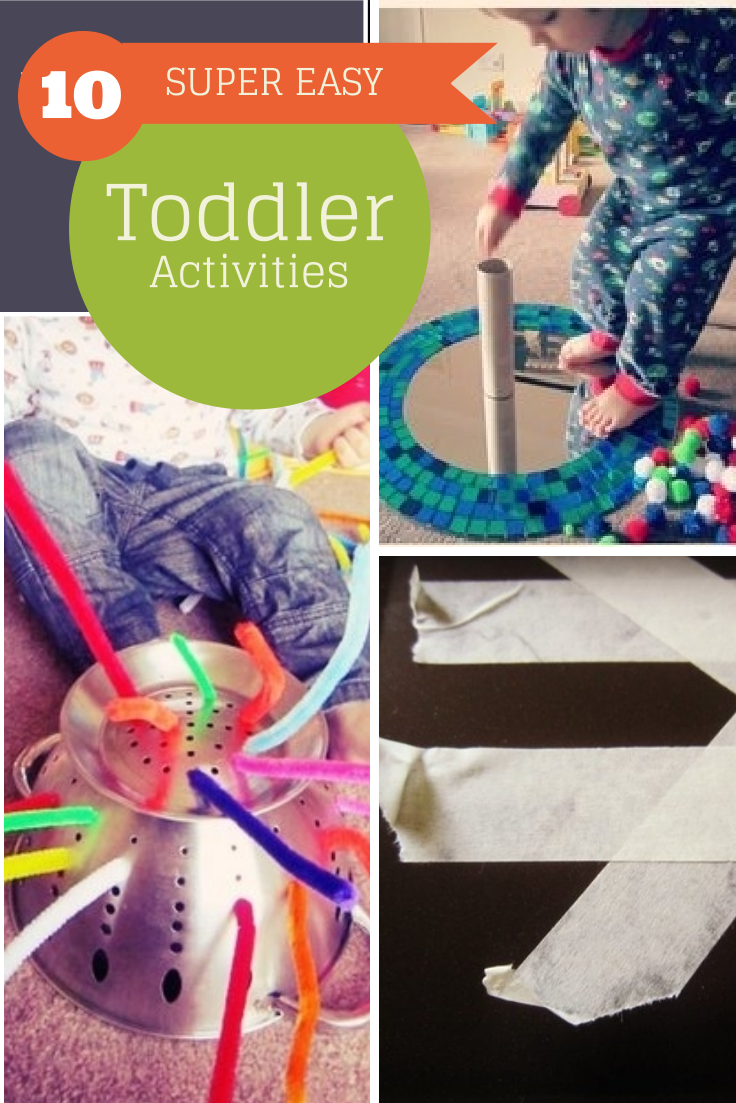 10 super easy toddler activities with minimum set up, and no mess